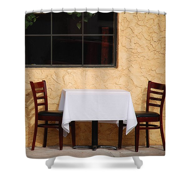 Lets have lunch together Shower Curtain by Susanne Van Hulst