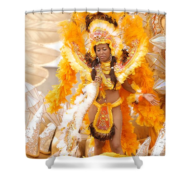 Lets Samba Shower Curtain by Sebastian Musial
