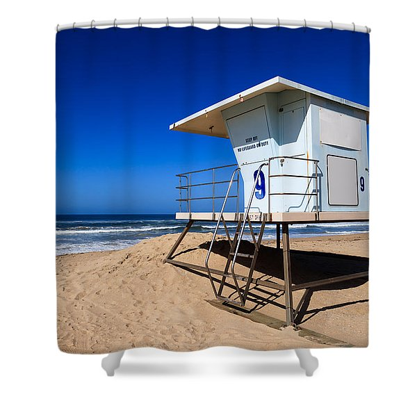 Lifeguard Tower Photo Shower Curtain by Paul Velgos