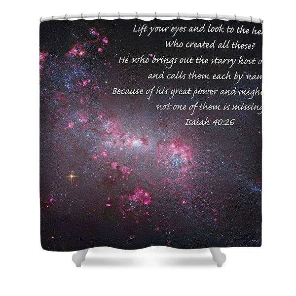 Lift Your Eyes Shower Curtain by Michael Peychich