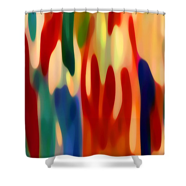 Light Through Flowers Shower Curtain by Amy Vangsgard