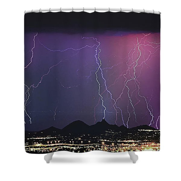 Lightning City Shower Curtain by James BO  Insogna