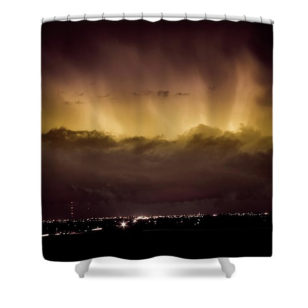 Lightning Cloud Burst Boulder County Colorado IM29 Shower Curtain by James BO  Insogna
