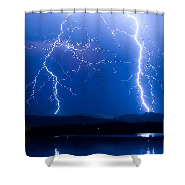 Lightning Storm 08.05.09 Shower Curtain by James BO  Insogna
