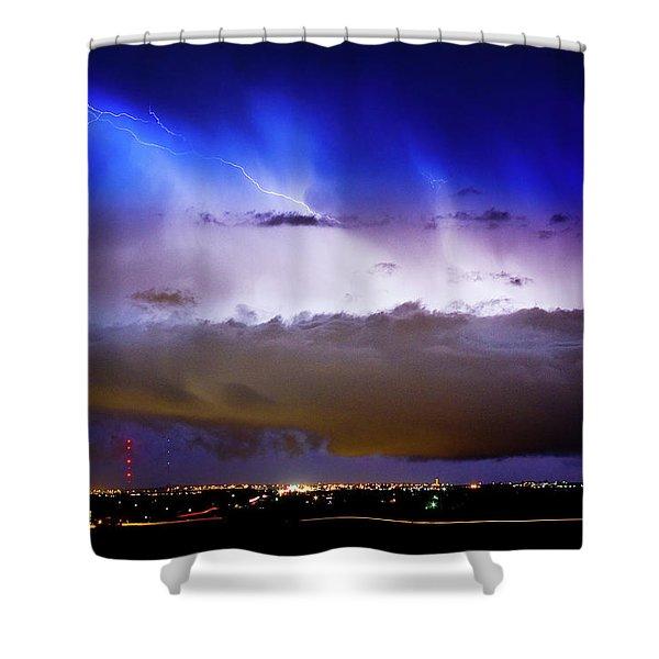 Lightning Thunder Head Cloud Burst Boulder County Colorado Im39 Shower Curtain by James BO  Insogna