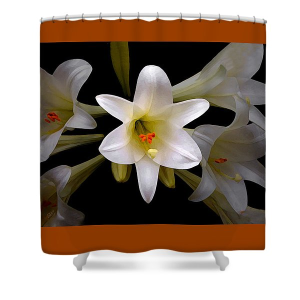 Lily Shower Curtain by Ben and Raisa Gertsberg