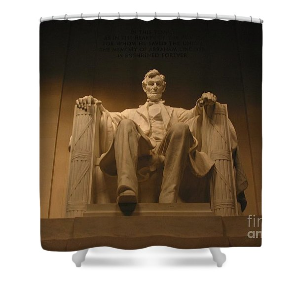 Lincoln Memorial Shower Curtain by Brian McDunn