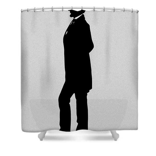 Lincoln Silhouette and Signature Shower Curtain by War Is Hell Store