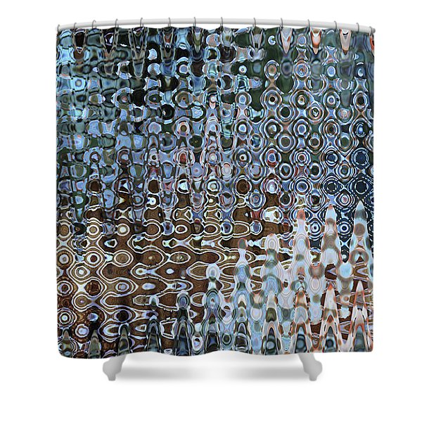 Lionfish Abstract Shower Curtain by Carol Groenen