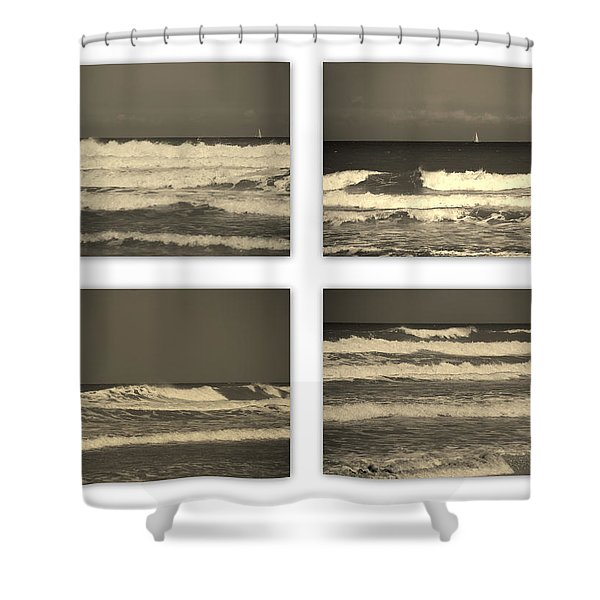 Listen to the Song of the Ocean Shower Curtain by Susanne Van Hulst