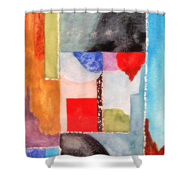 Little Abstract Shower Curtain by Jamie Frier