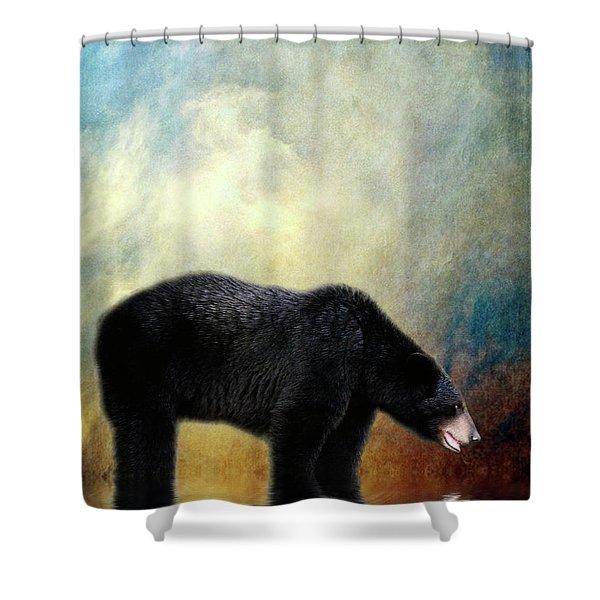 Little Boy Lost Shower Curtain by Lois Bryan