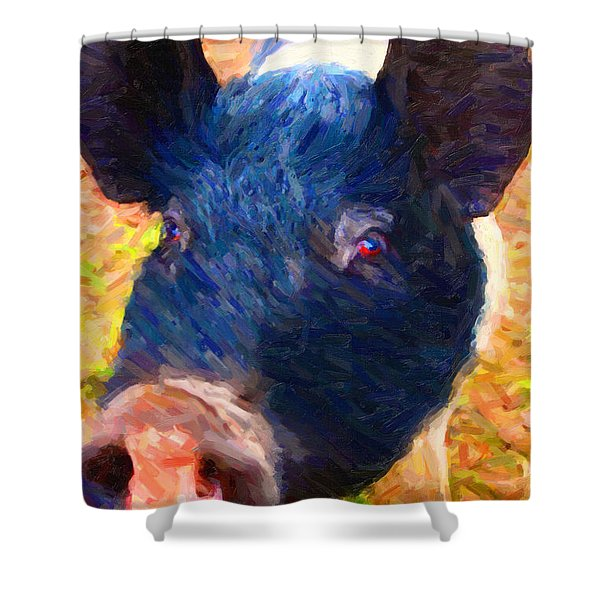 Little Miss Piggy Shower Curtain by Wingsdomain Art and Photography