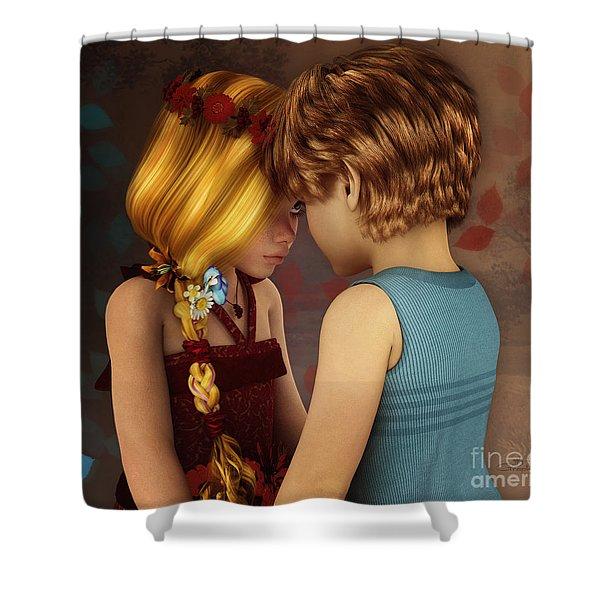 Little Romance Shower Curtain by Jutta Maria Pusl