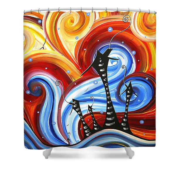 Little Village By Madart Shower Curtain by Megan Duncanson