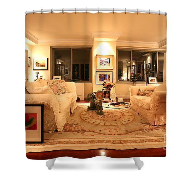 Living Room III Shower Curtain by Madeline Ellis