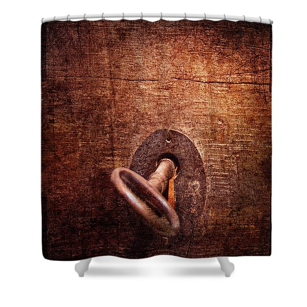 Locksmith - Locked Shower Curtain by Mike Savad