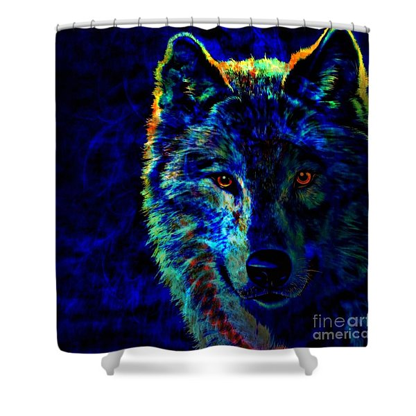 Lone Wolf Shower Curtain by WBK