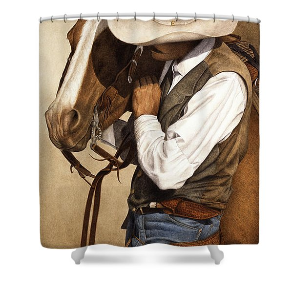 Long Time Partners Shower Curtain by Pat Erickson