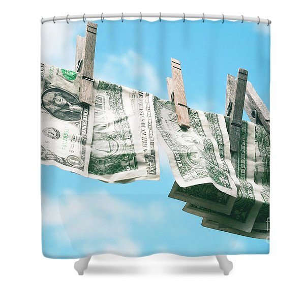 Look How Much A Dollar Buys Shower Curtain by Sharon Mau