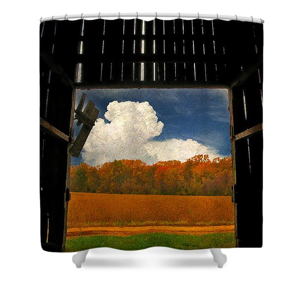 Looking Out Shower Curtain by Lois Bryan
