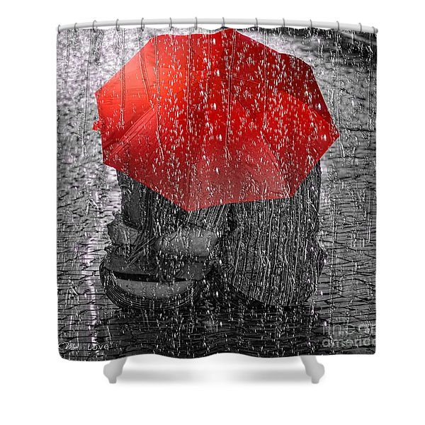 Love Shower Curtain by Mo T