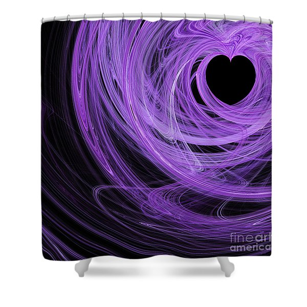 Love Swirls . Square . A120423.689 Shower Curtain by Wingsdomain Art and Photography
