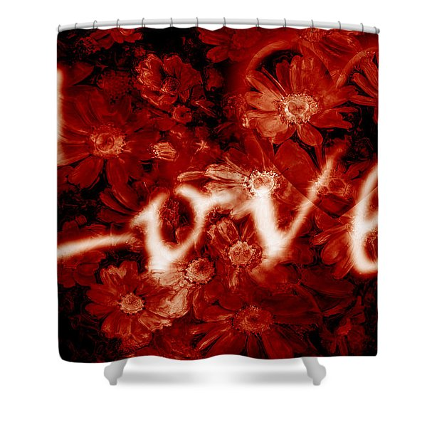 Love With Flowers Shower Curtain by Phill Petrovic