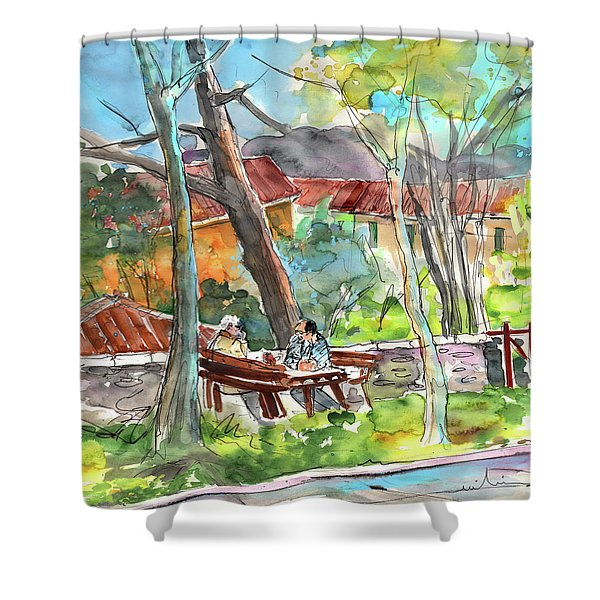 Lucca in Italy 04 Shower Curtain by Miki De Goodaboom