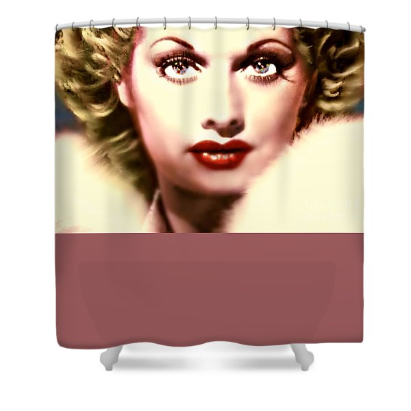 Lucille Golden Years Shower Curtain by WBK