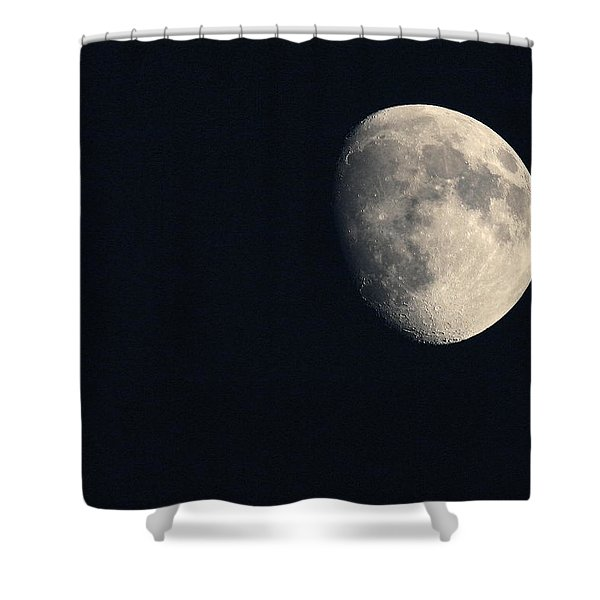 Lunar Surface Shower Curtain by Angela Rath