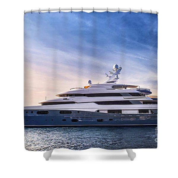 Luxury yacht Shower Curtain by Elena Elisseeva