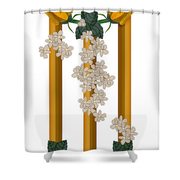 M Is For Memories Shower Curtain by Anne Norskog
