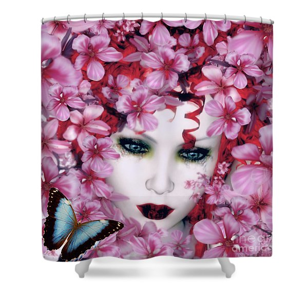 Madame Butterfly Shower Curtain by Shanina Conway