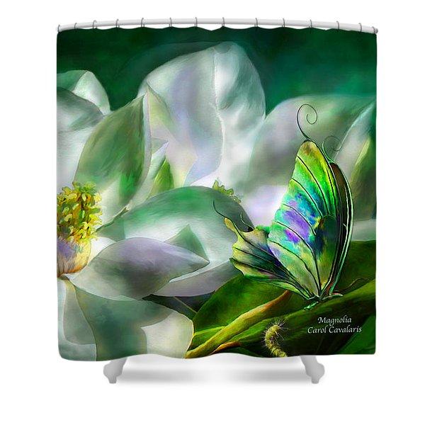 Magnolia Shower Curtain by Carol Cavalaris