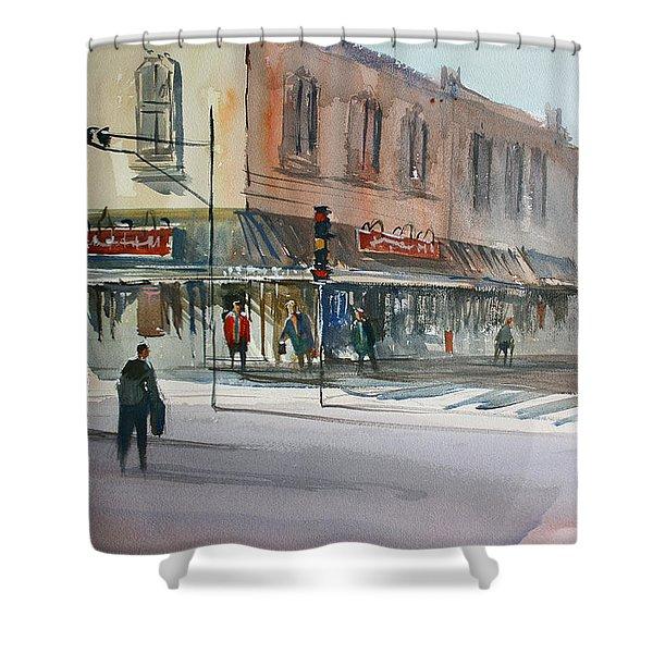 Main Street Marketplace - Waupaca Shower Curtain by Ryan Radke