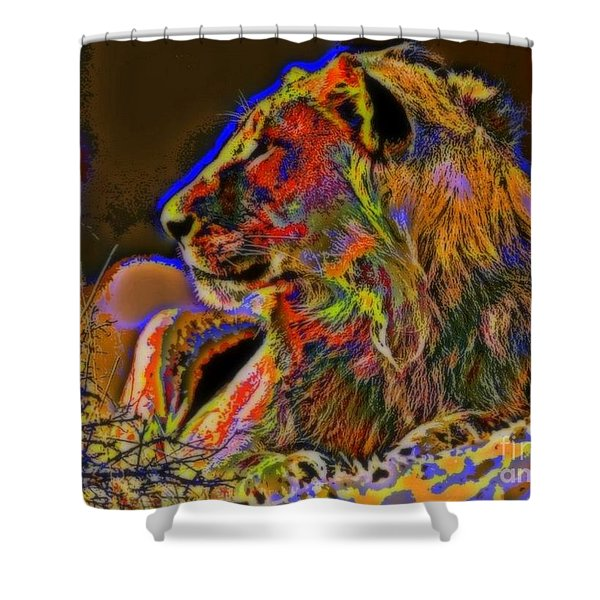 Majestic Shower Curtain by WBK
