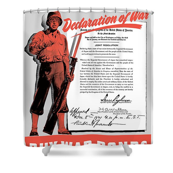 Make Your Own Declaration Of War Shower Curtain by War Is Hell Store