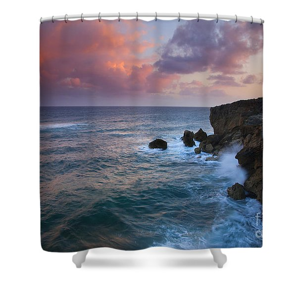 Makewehi Sunset Shower Curtain by Mike  Dawson