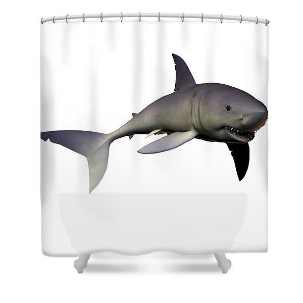 Mako Shark Shower Curtain by Corey Ford