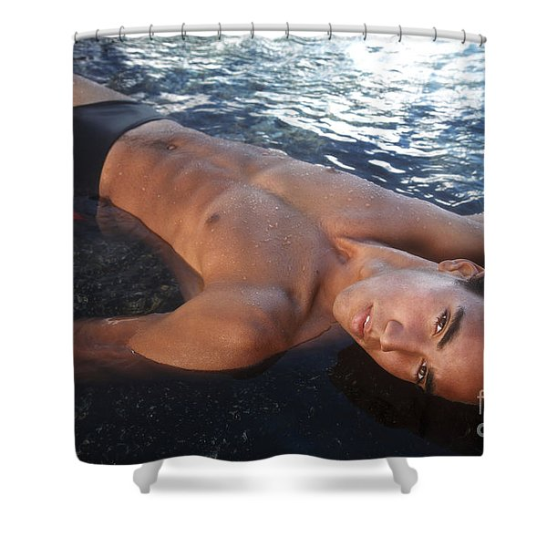 Man Of The Tides Shower Curtain by Brandon Tabiolo - Printscapes