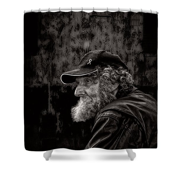 Man With A Beard Shower Curtain by Bob Orsillo