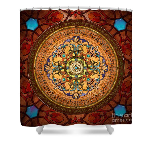 Mandala Arabia Shower Curtain by Bedros Awak