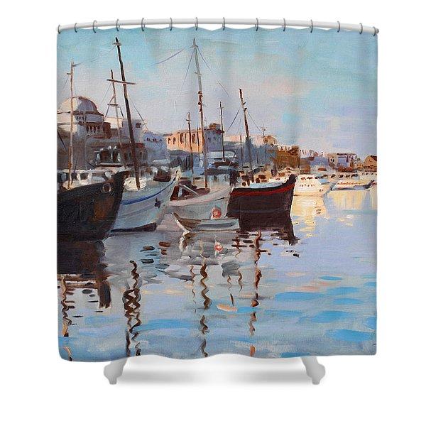 Mandraqi Rhodes Greece Shower Curtain by Ylli Haruni