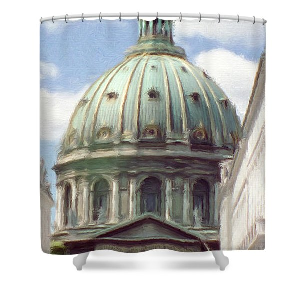 Marble Church Shower Curtain by Jeff Kolker