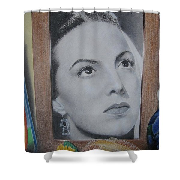Maria Bonita Shower Curtain by Lynet McDonald