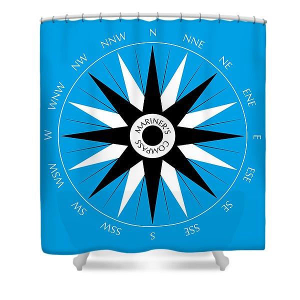 Shower Curtains - Mariners Compass Shower Curtain by Frank Tschakert