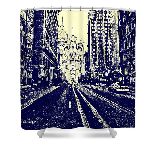 Market Street  Shower Curtain by Bill Cannon