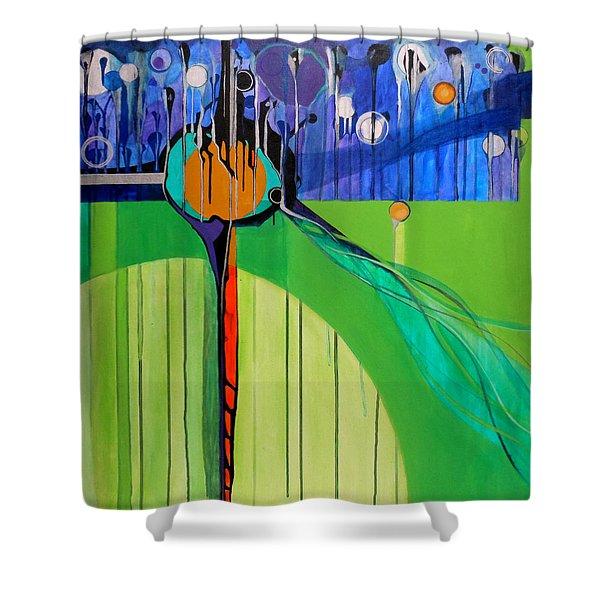 Mazal Tov Shower Curtain by Marlene Burns