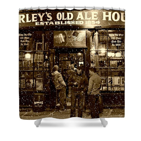 Mcsorley's Old Ale House Shower Curtain by Randy Aveille